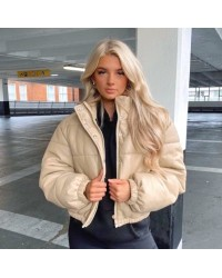 """Куртка """"пуфер"""" из эко-кожи 608"""